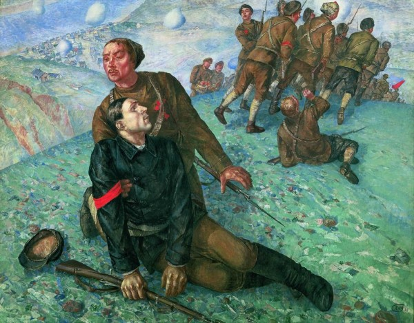 Kuzma Petrov-Vodkin, Death of a Commissar, 1928. The Russian Museum, St. Petersburg.