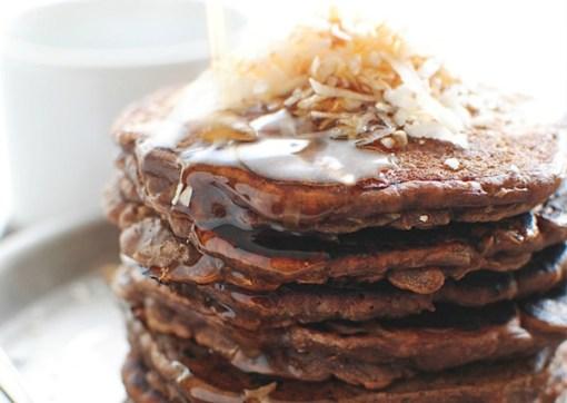 Tortitas de cacao puro, avena y plátano