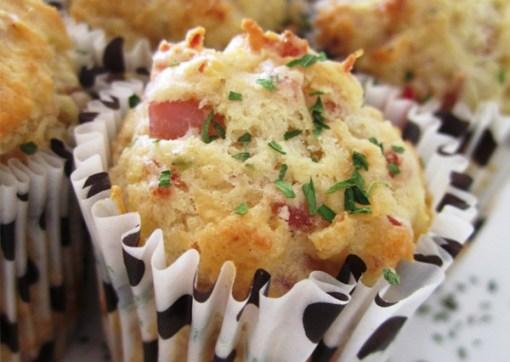 Muffins salados caseros bajos en calorías