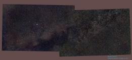 Milky Way around constellation Vulpecula