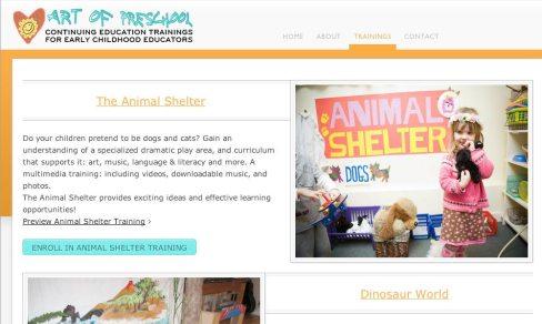 ArtofPreschool.com site screen capture