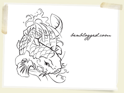 This Koi fish is hand traced so I hope you all love it!