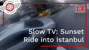 SlowTV: Sunset Ride into Istanbul – Full 40 Minutes Real Time BikePacking
