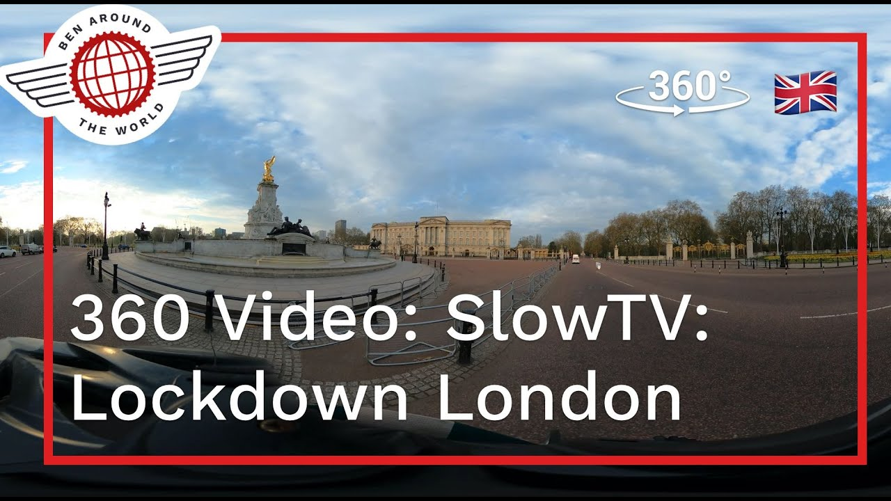 360 Video: SlowTV: Full Hour Cycle Around Lockdown London