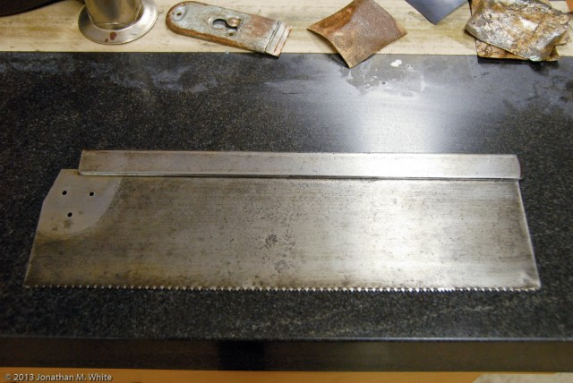 The other side of the saw plate.
