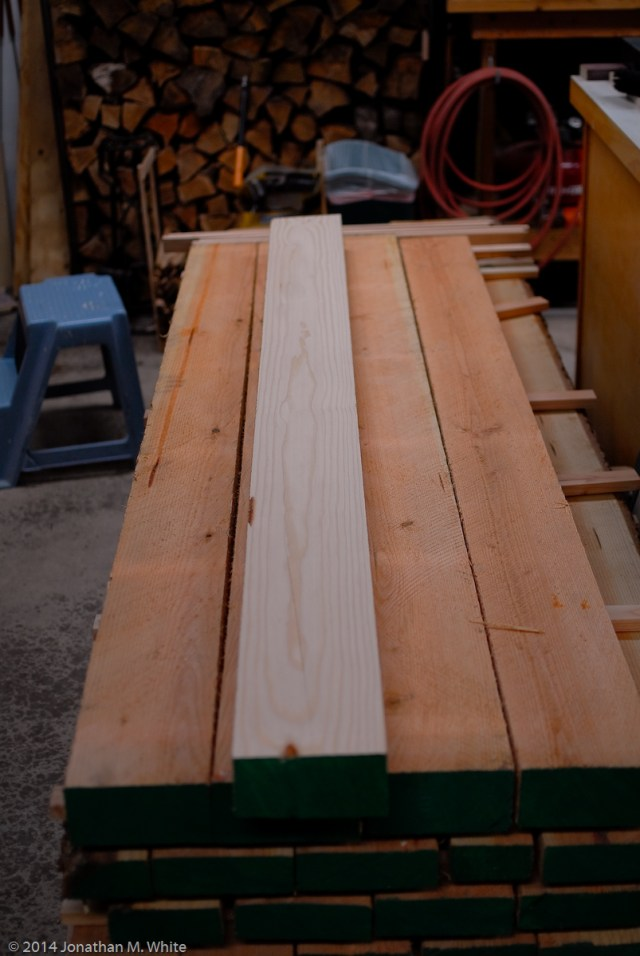 First leg timber is jointed.