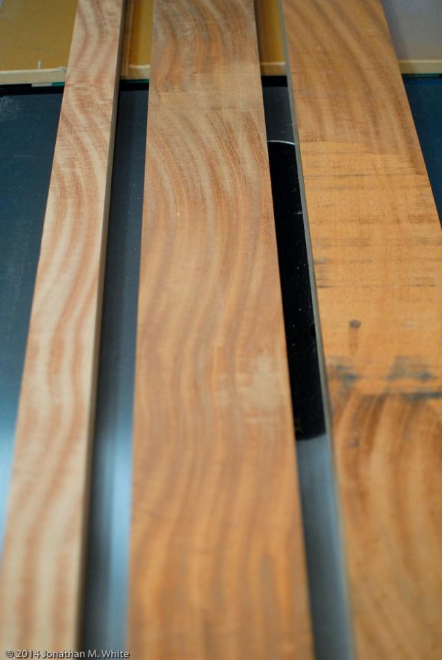 A nice wavy pattern in the grain.