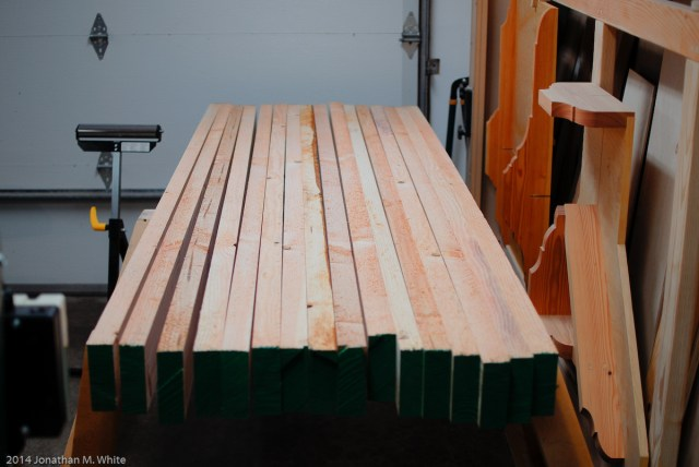 All the boards jointed (face and one edge) and planed to thickness.