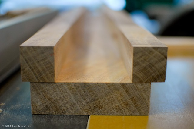 Milled pieces ready for glue-up.