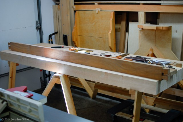 The first workbench side done.