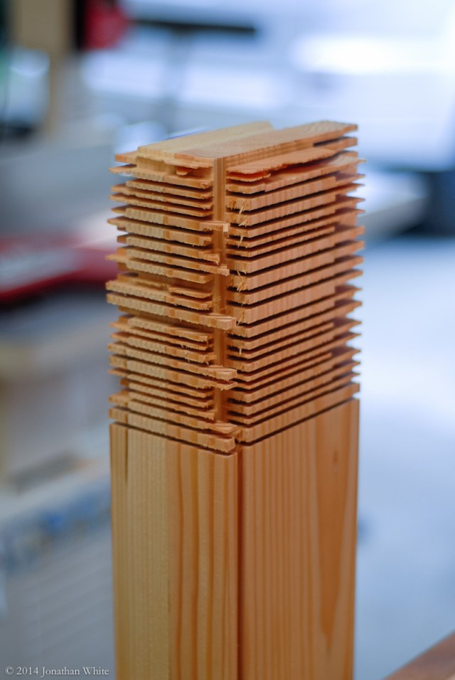 Time to remove all the waste and reveal the tenon within.