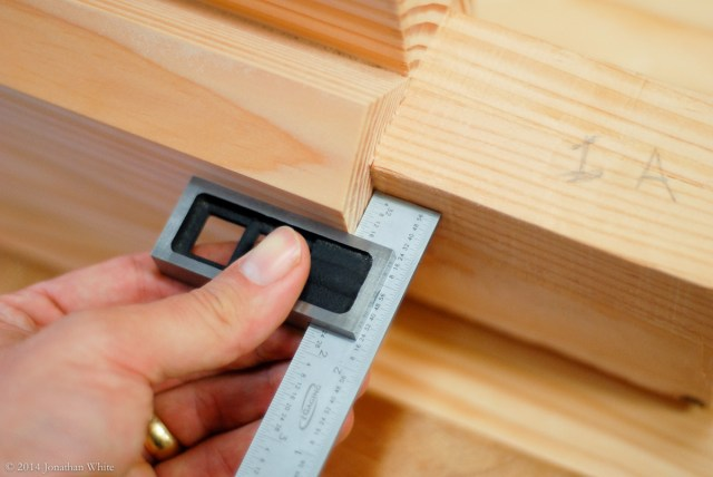 Taking the position of the mortise directly off of the tenon.