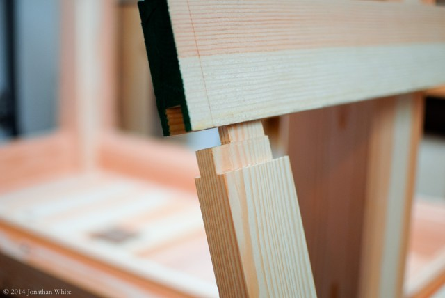 The frame and panel joinery.