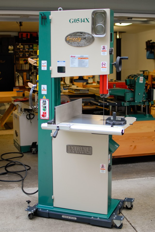 The Grizzly G0514X Bandsaw that I bought.