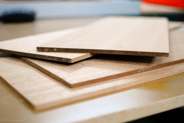"""I fed the re-sawed boards through the planer again and finished up around 5/16"""" thick."""