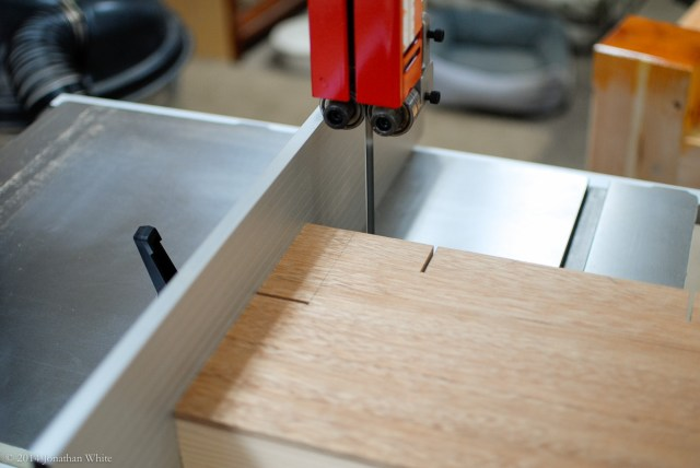 After cutting the shoulders, I removed the rest at the bandsaw.