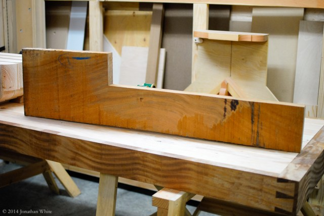 This is the last remaining piece of the sapele board that I bought for making the bench.