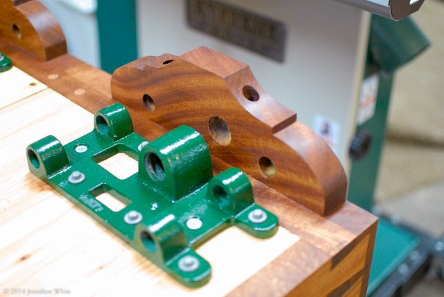 The vise skirts also received a few coats of finish.