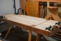 A long time later... all eight mortises are chopped half way through the benchtop.
