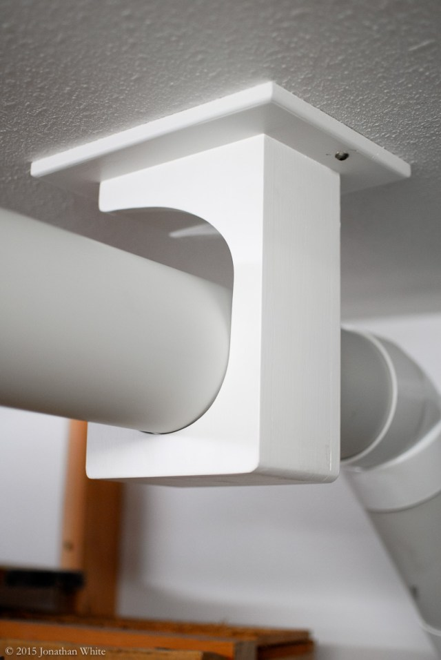 The base plate makes the brackets very versatile as they can be installed at any angle relative to the ceiling joists.