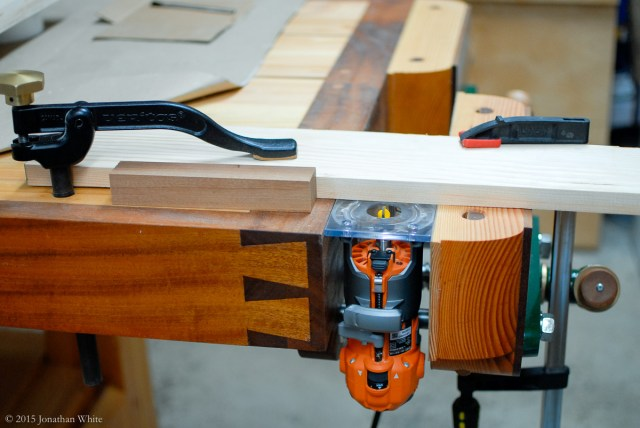 My quick makeshift router table.