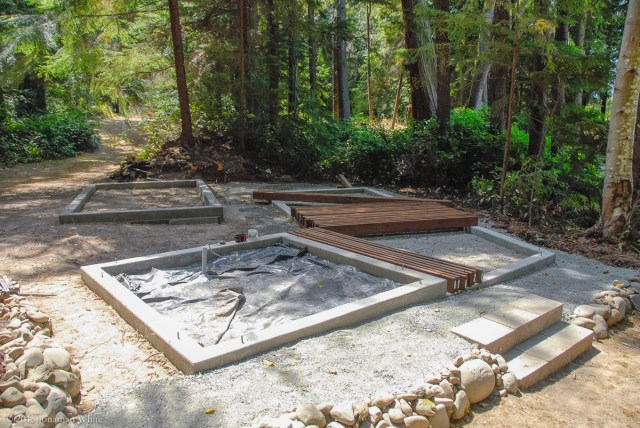 The next step was a trip to the lumber yard for pressure treated 2x6s for the floor joists.