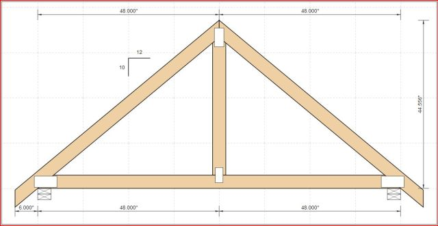 The basic layout of my 10/12 truss.