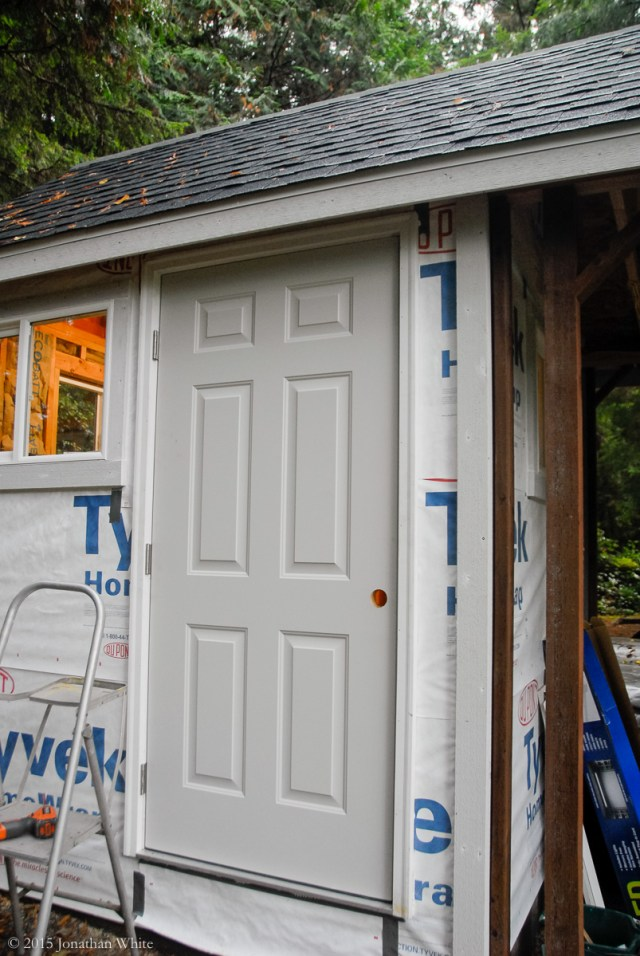 I used and out-swing exterior door.