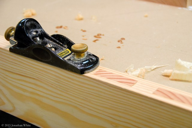 Final clean up of the tenons.