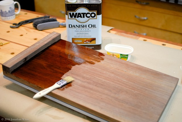 The wood looked amazing when the Danish Oil went on. I was very pleasantly surprised.