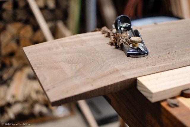 I used my low angle block plane to make sure the bandsaw cut portion matched the flatness of the tablesaw cut bevel.