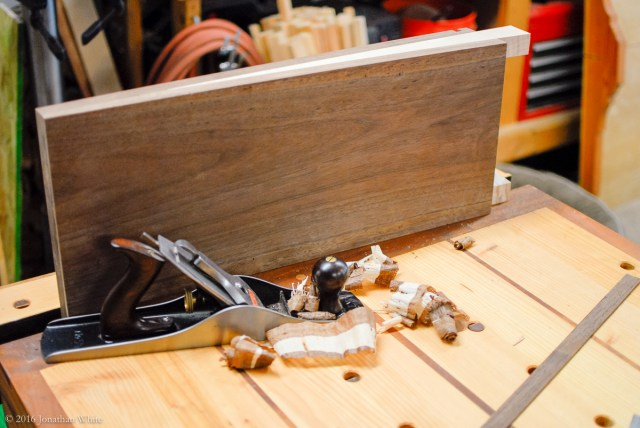 I smoothed the table saw cut with a hand plane.