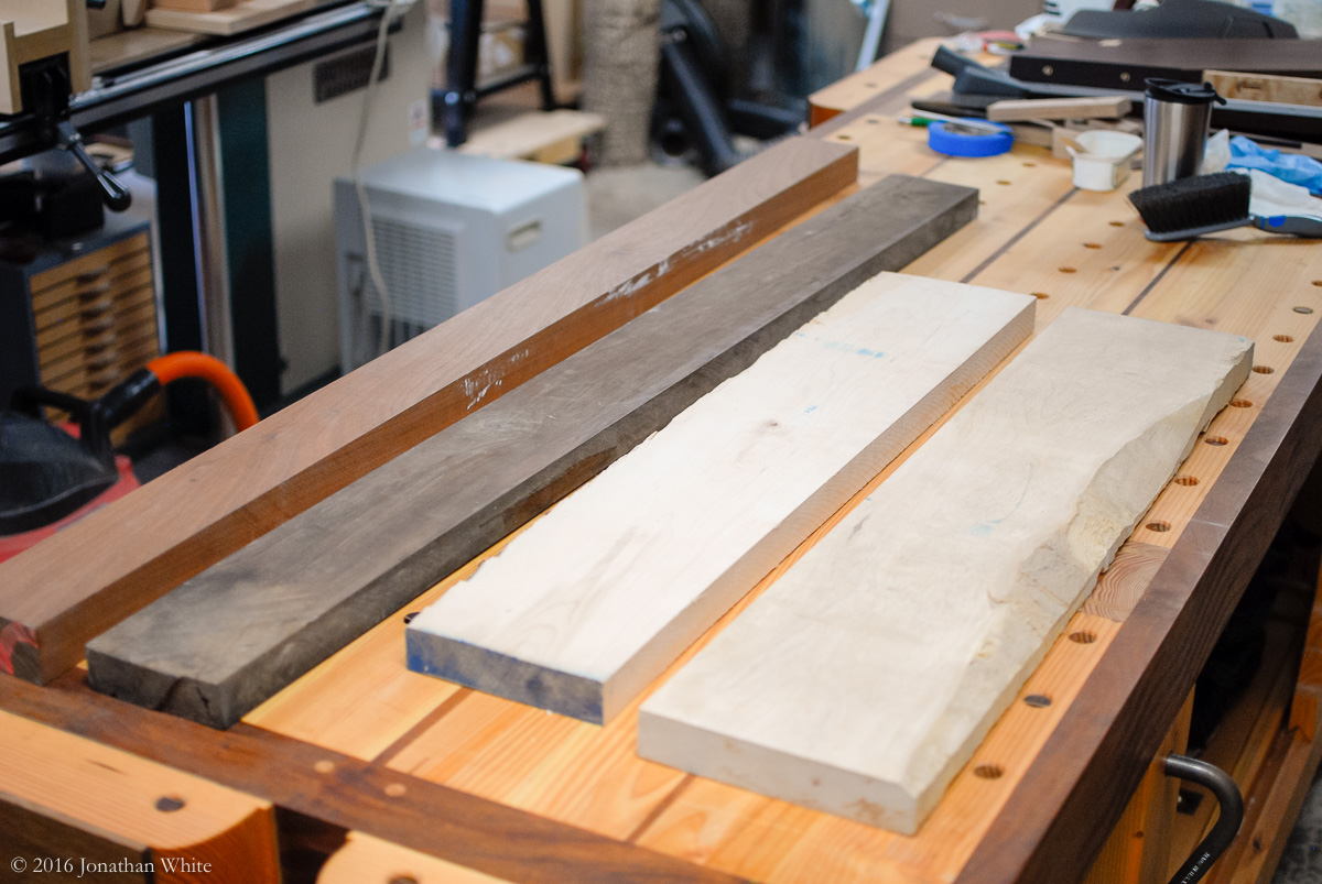 Cutting Board 8x12x1.5 inches Maple and Sapele