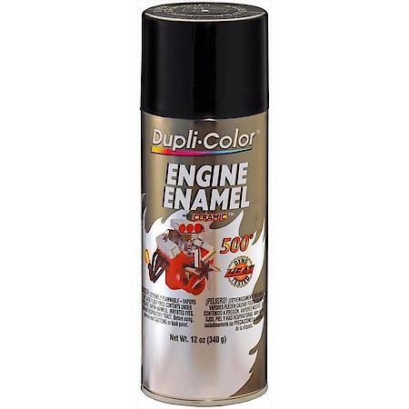 Dupli-Color Gloss Black Ceramic Engine Enamel.