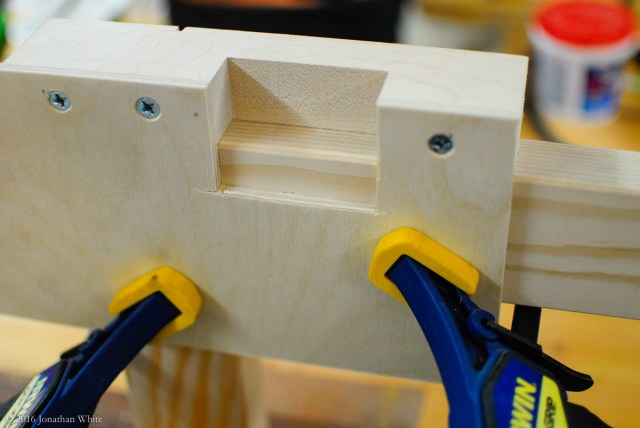 A quick jig for routing the hinge mortises.