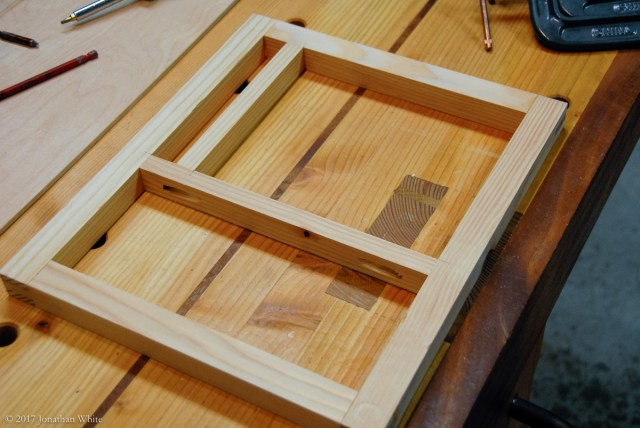 I added some dividers to frame the will become the entrance.