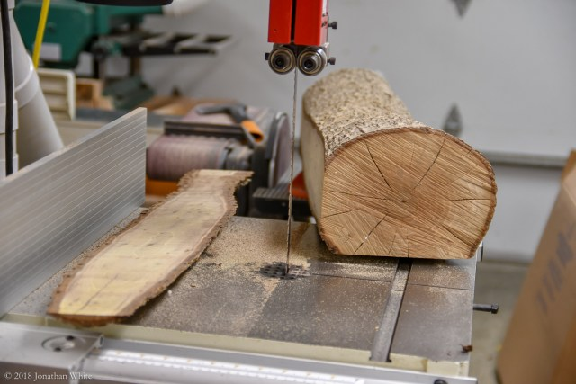 Next cut was at the bandsaw.