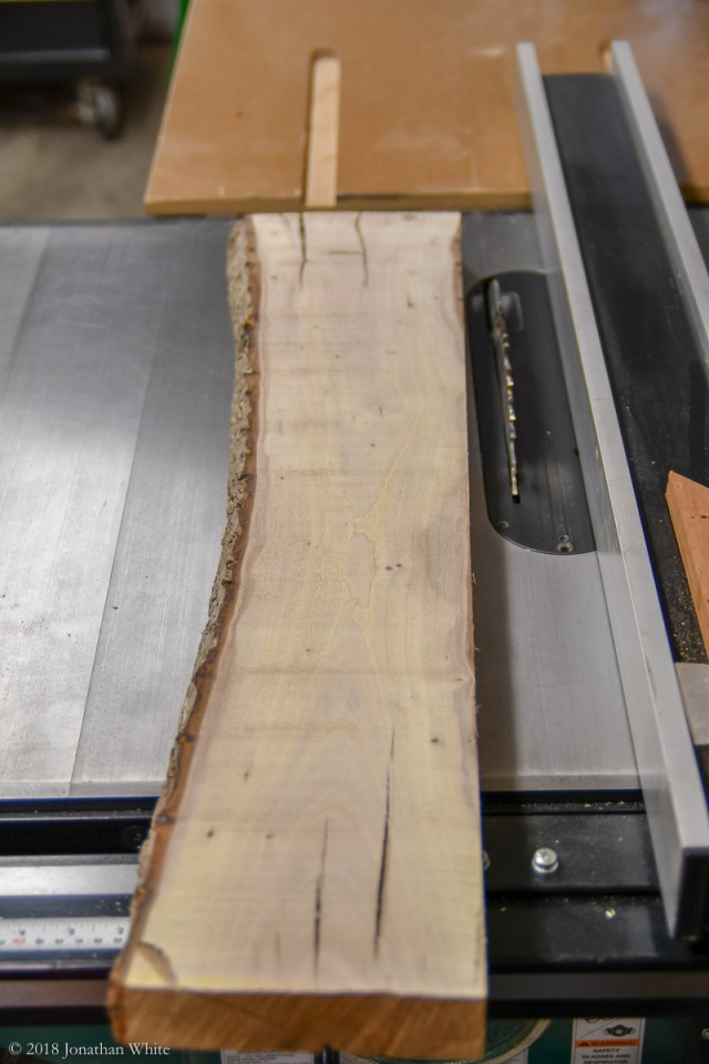 Cutting the plank into billets.