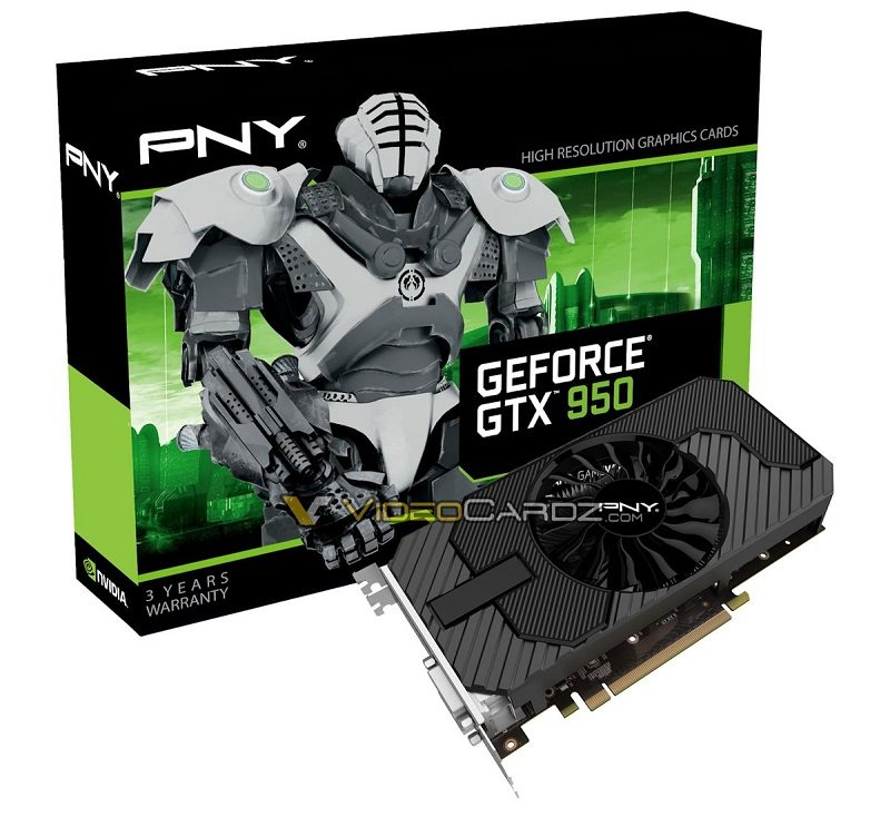 Nvidia GeForce GTX 950 fotografiada y listada