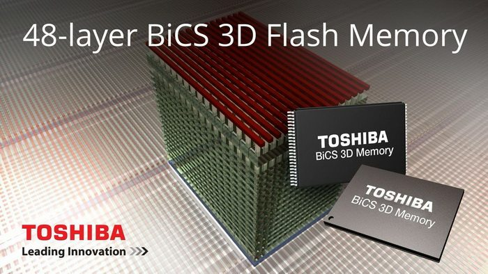 Toshiba y SanDisk presentan BiCS 3D NAND, memorias flash de 48 capas