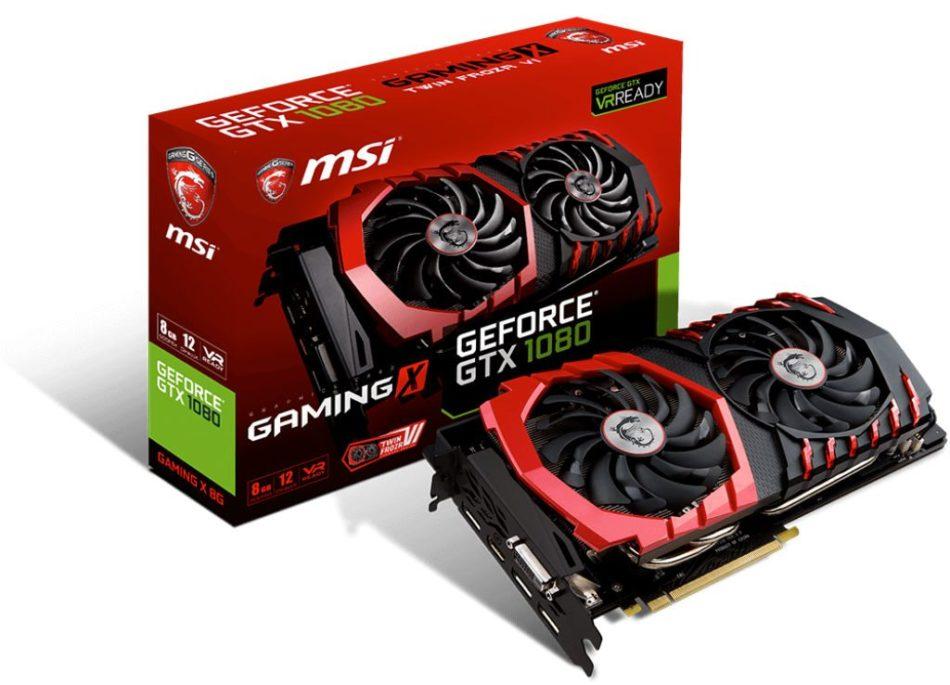 MSI GTX 1080 Gaming X por encima de la GTX 1080 Founder's Edition