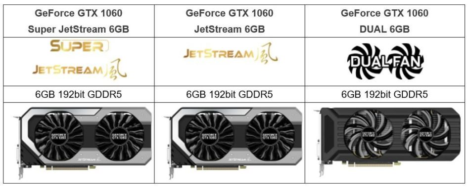 Palit anuncia su serie JetStream para la NVIDIA GTX 1060