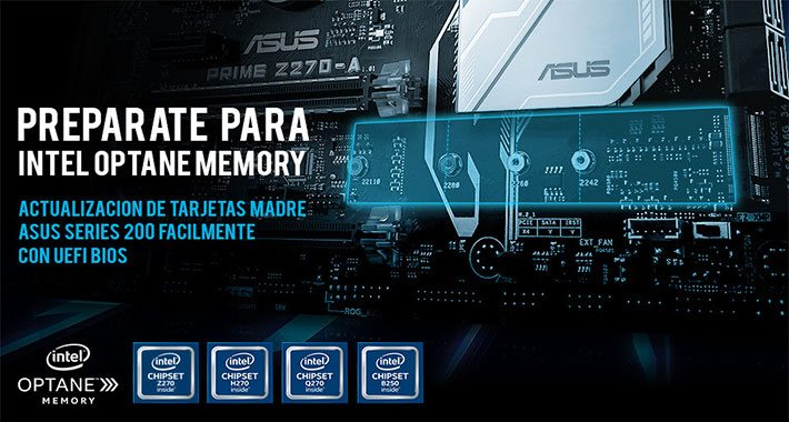ASUS anuncia la compatibilidad con Intel Optane