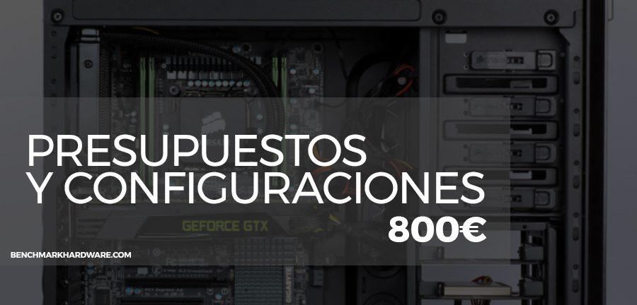 Presupuesto PC Gaming 800€ – Noviembre 2018
