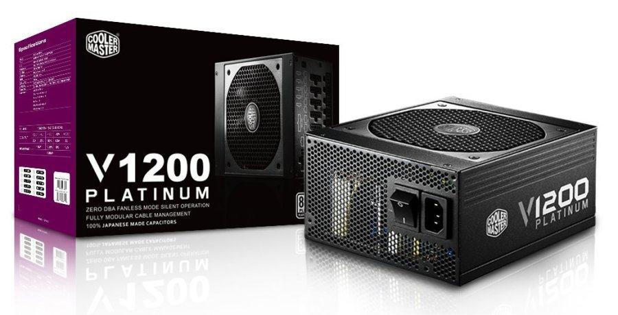 Cooler Master RSC00-AFBAG1-EU - Fuente de alimentación ATX (1200W) Color Negro