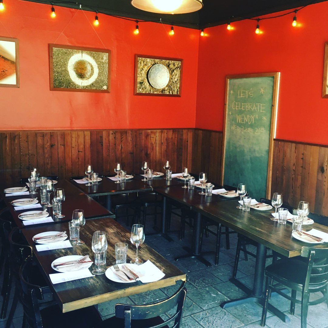 Our back room available for private party rental