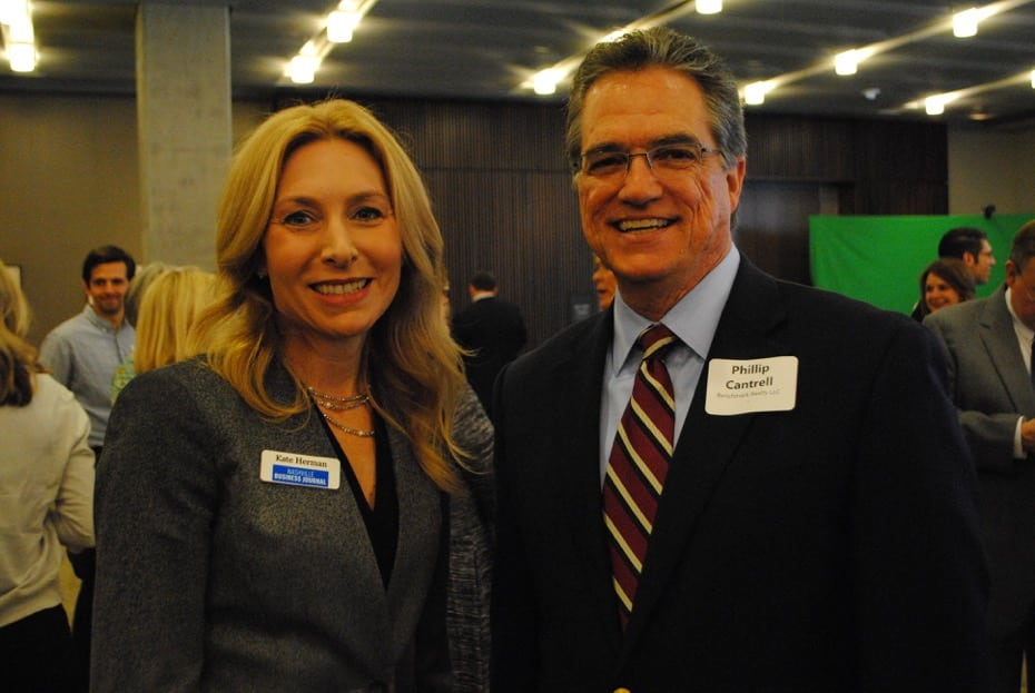 Nashville Business Journal Publisher Kate Herman and Benchmark Realty CEO Phillip Cantrell