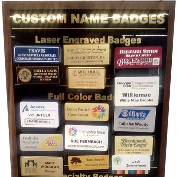 Name Badges, Plates & Signage