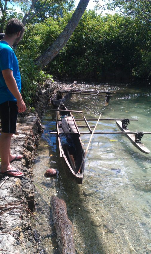 An outrigger that we found