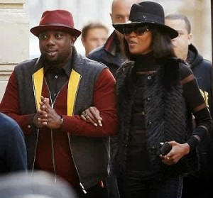 Mr. Aluko and int'l model, Naomi Campbell